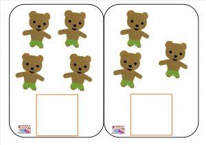 les 3 ours : jeux de numération – MC en maternelle