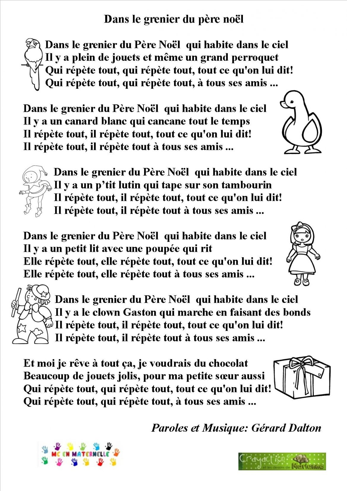 P re no l mc en maternelle - Pere noel de dos ...