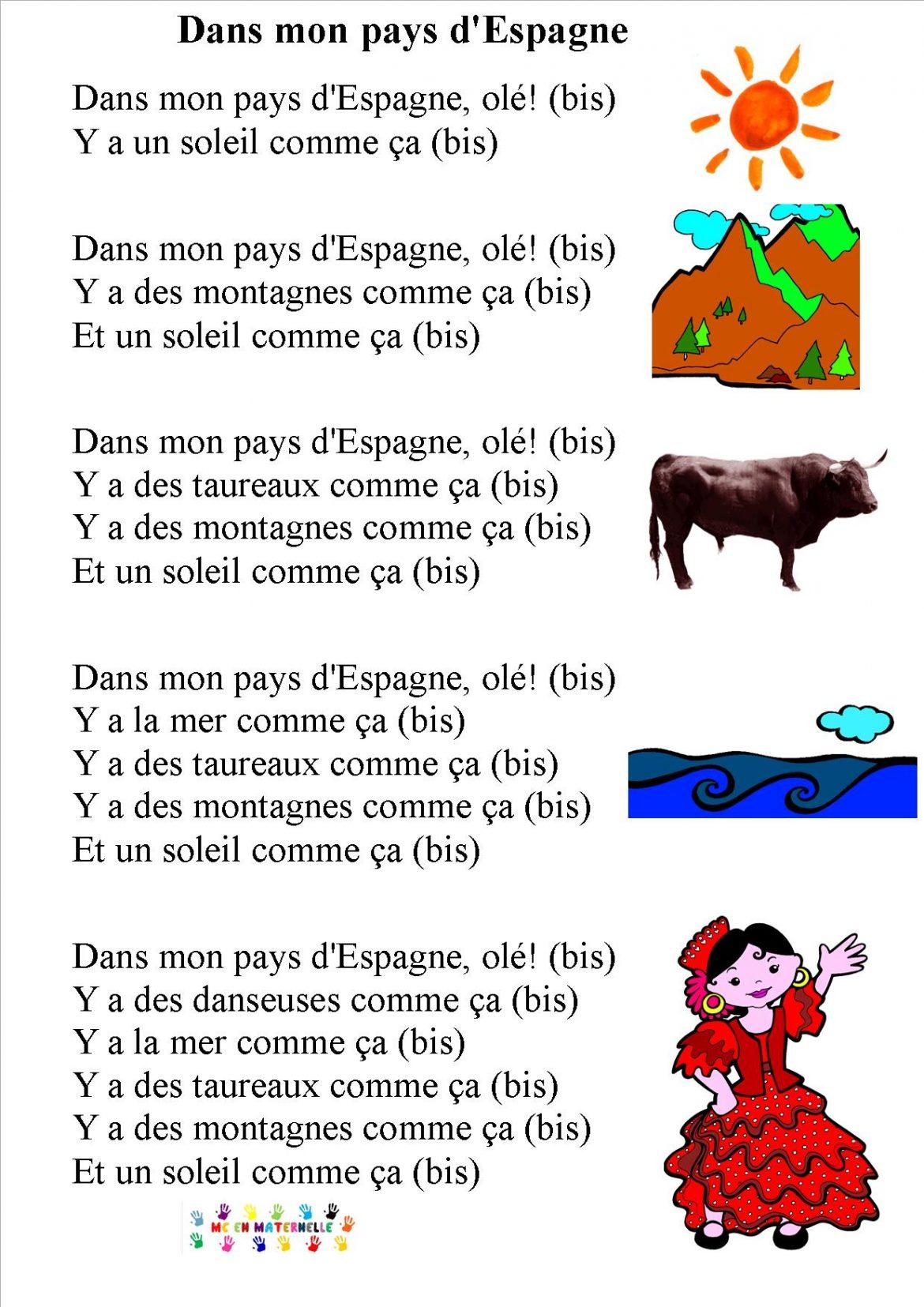 Chansons comptines page 3 mc en maternelle for Pas d cochon dans mon salon comptine
