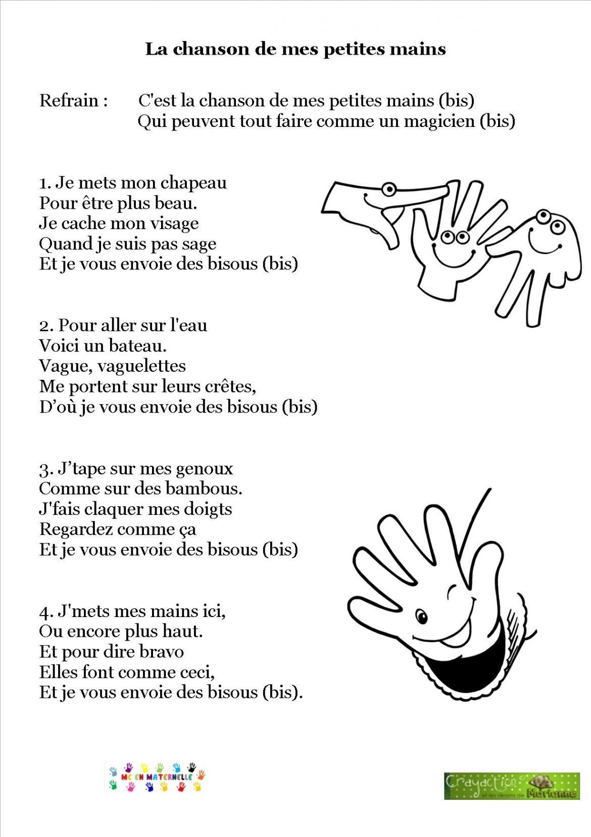 Chansons comptines mc en maternelle - Comment enlever de la teinture sur les mains ...