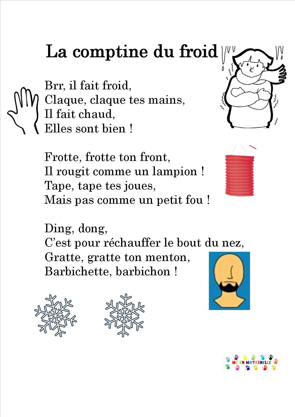Comptine du froid mc en maternelle - L hiver 2017 2018 sera t il froid ...