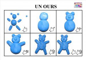 Ours En Pâte à Modeler Mc En Maternelle