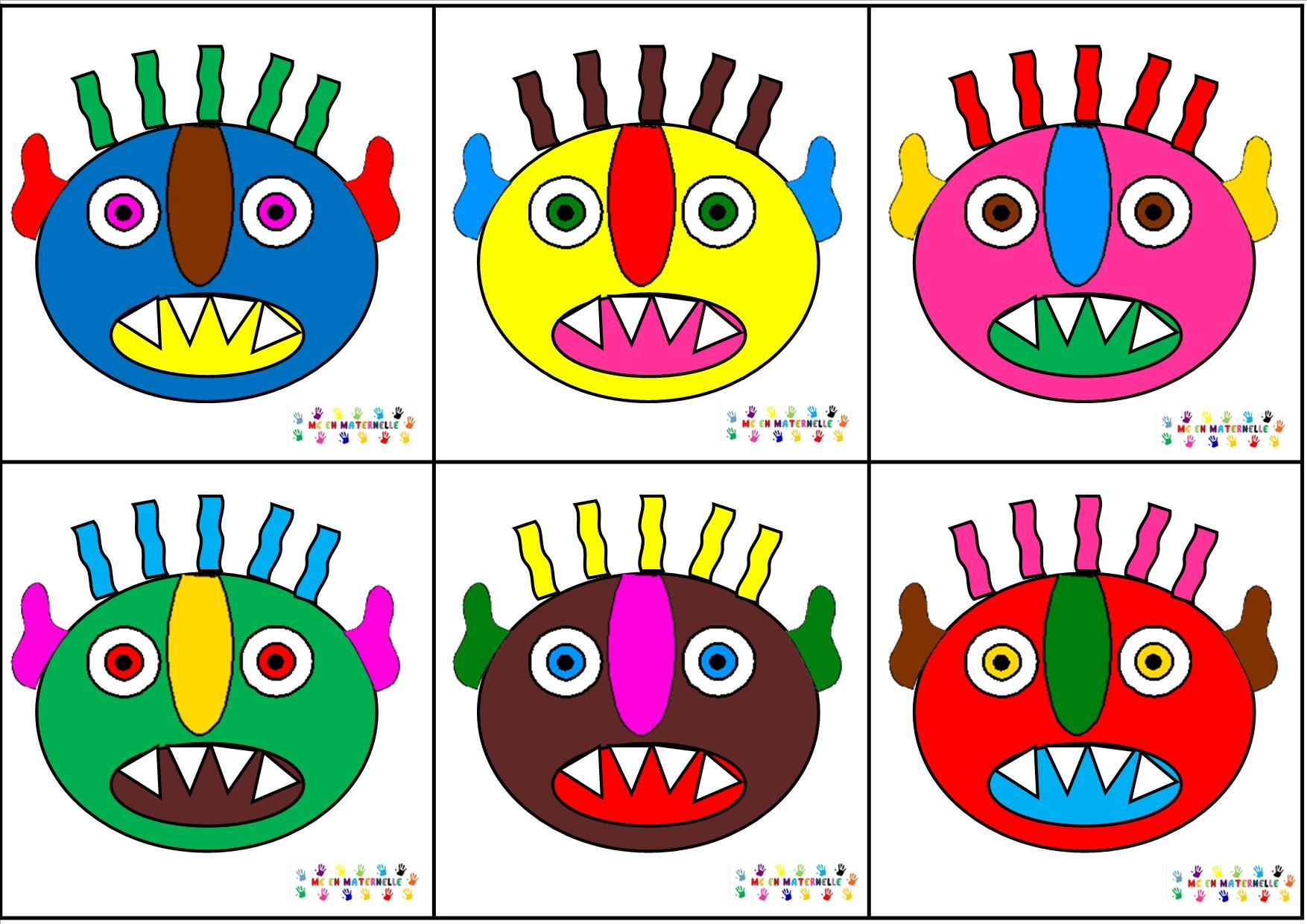 Monstre vert s rie mc en maternelle - Images de monstres rigolos ...