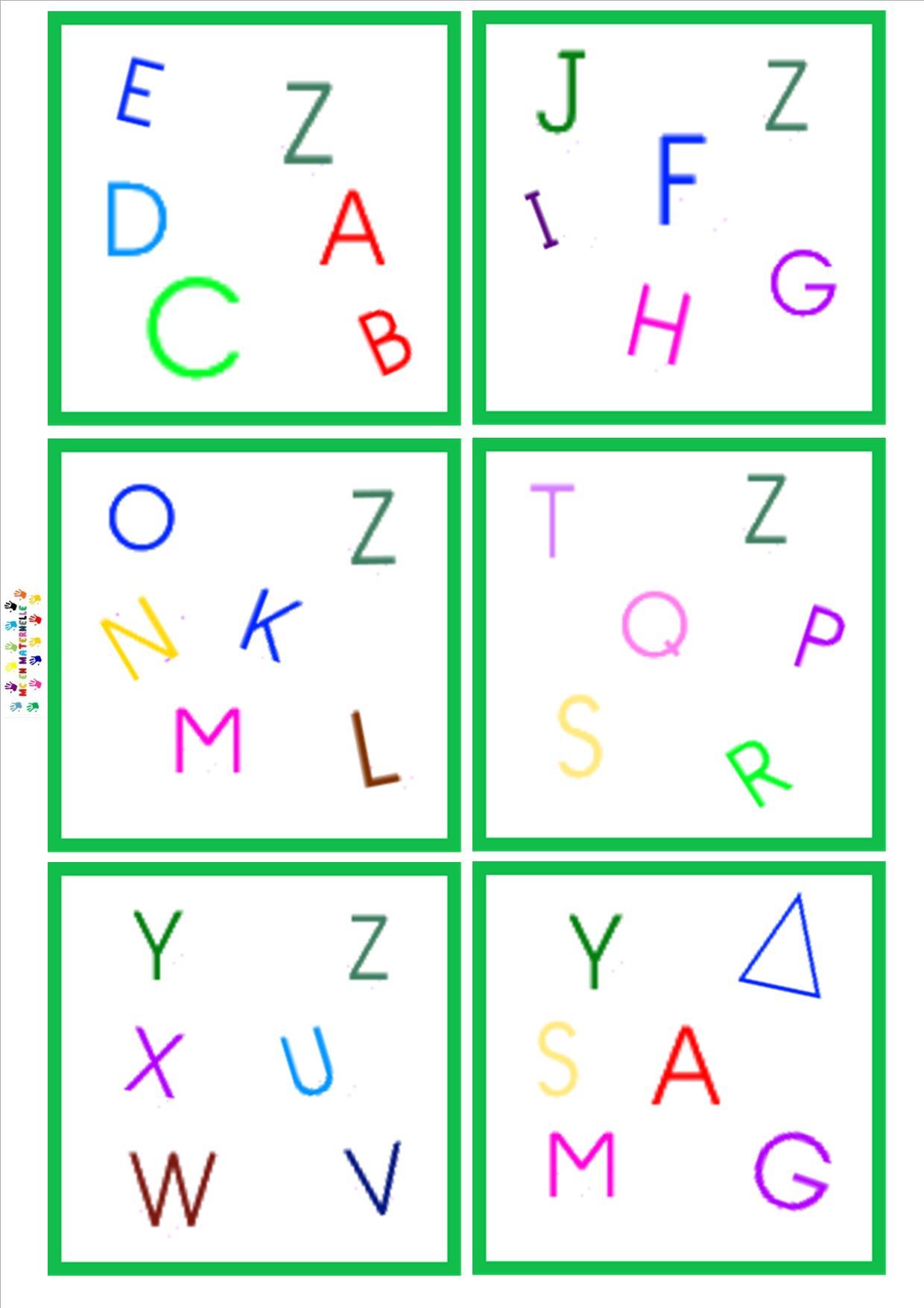 Dobble lettres majuscule mc en maternelle - Alphabet majuscule a imprimer ...