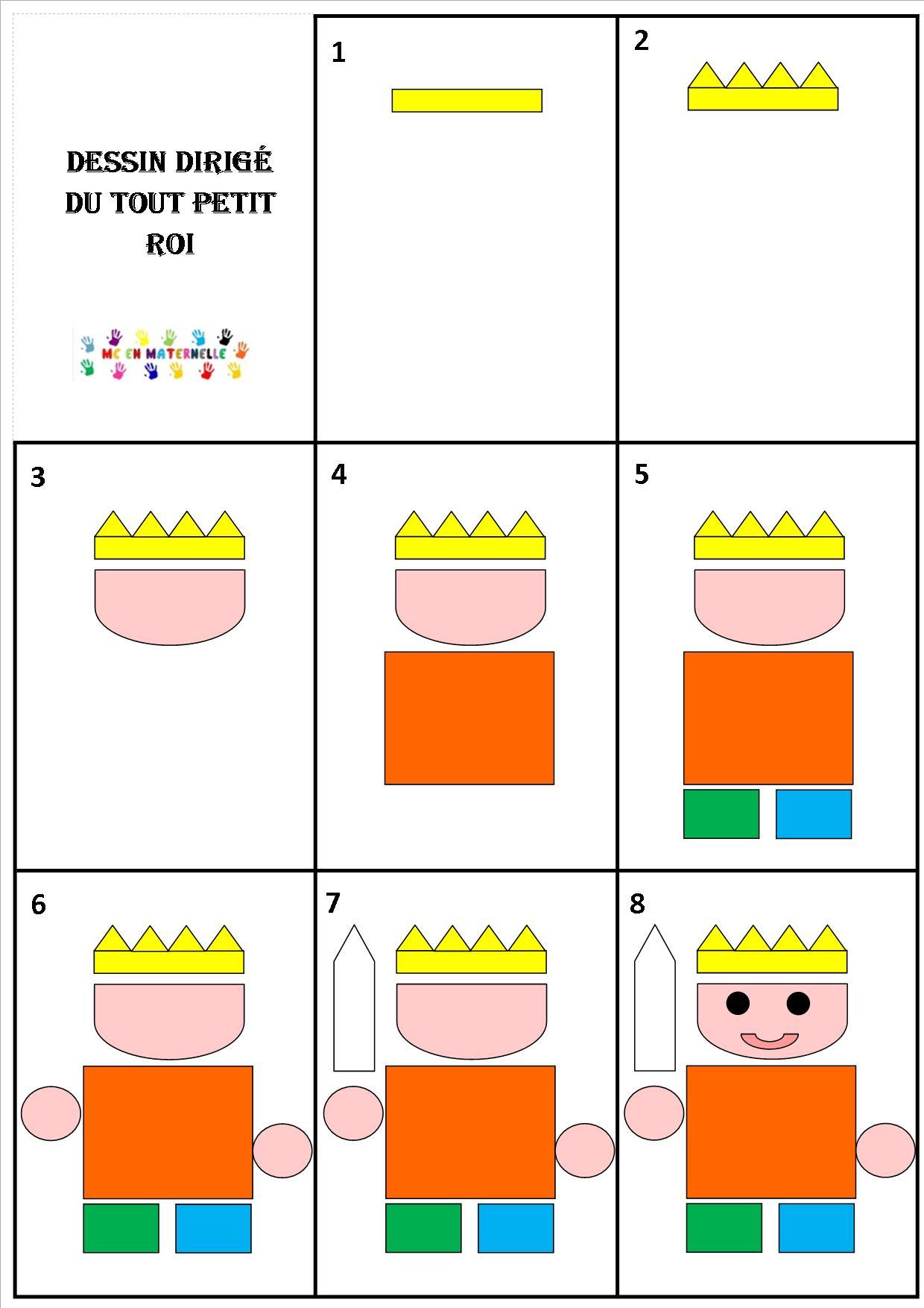 Le Tout Petit Roi Dessin Dirige Du Roi Et De La Princesse Mc En Maternelle