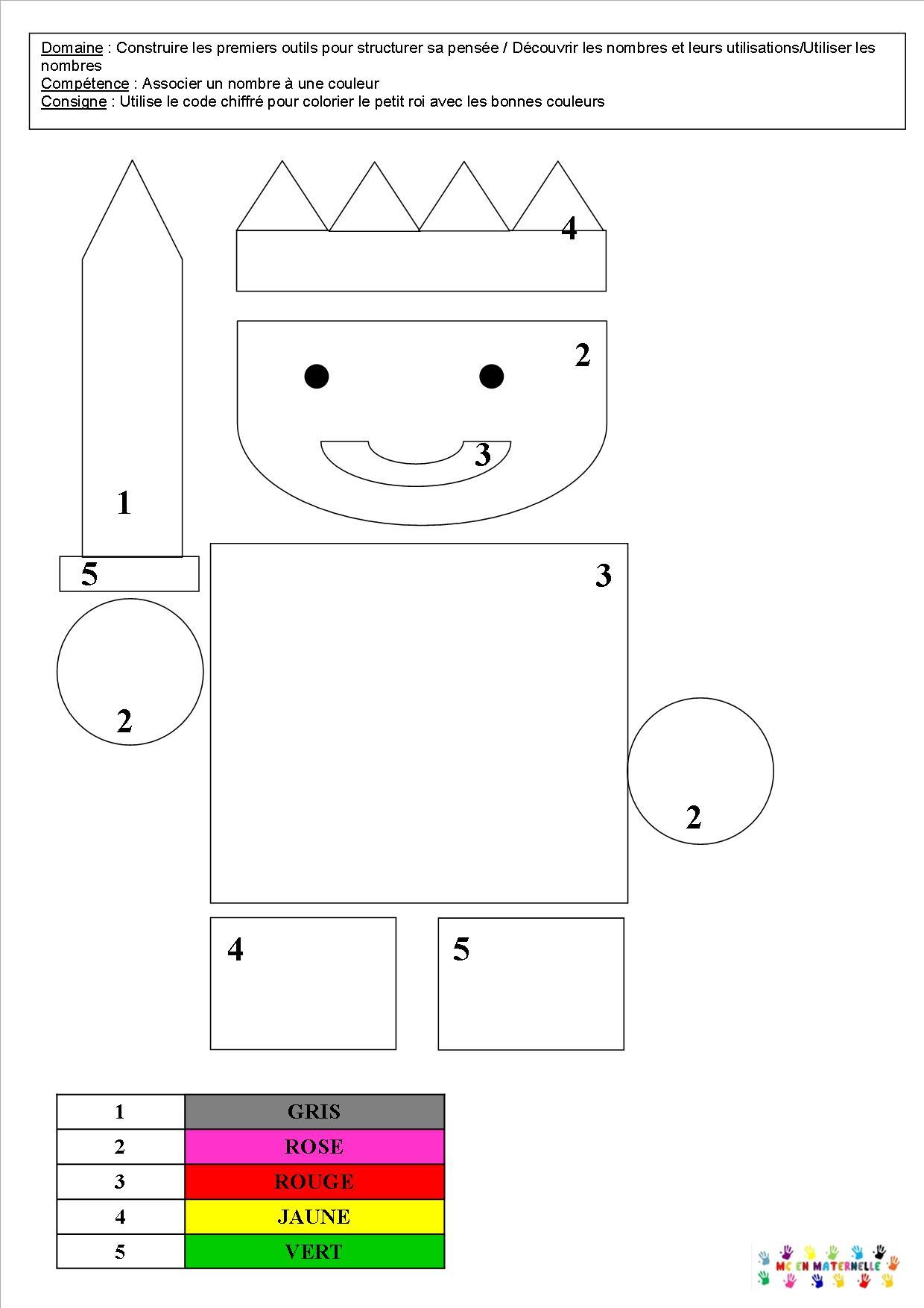 Célèbre Le tout petit roi : coloriages et coloriages magiques – MC en  JM43