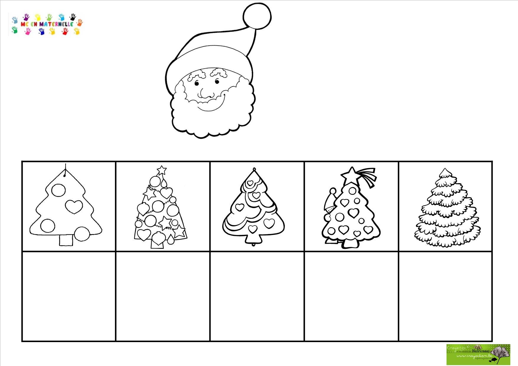 Noel Maternelle Noel : Tri de sapins de formes différentes – MC en maternelle