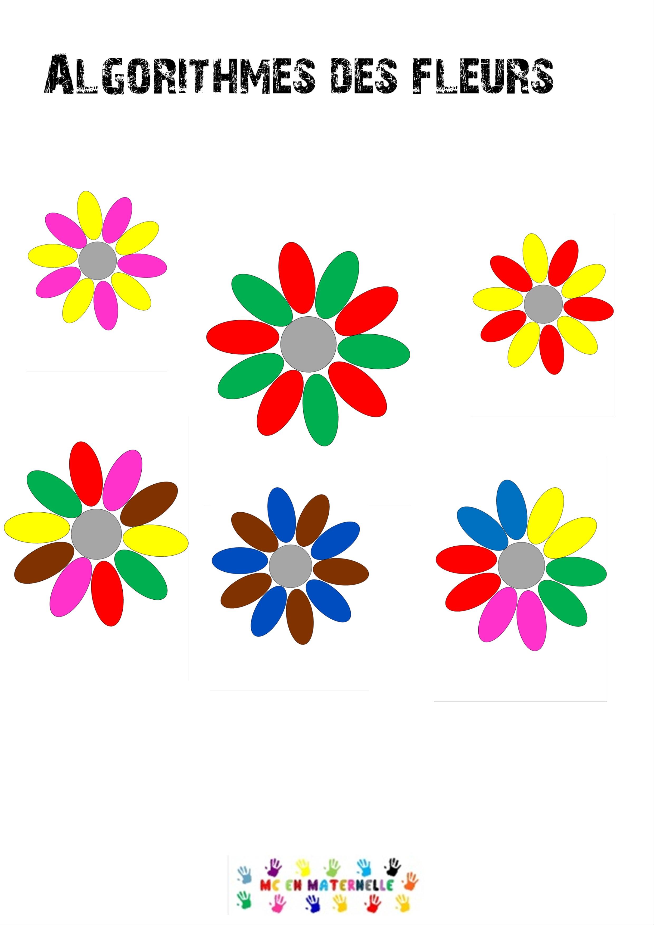 Algorithmes des fleurs mc en maternelle - Fleurs printemps maternelle ...
