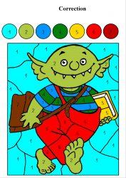 Coloriage Theme Ecole.Coloriage Magique Mc En Maternelle