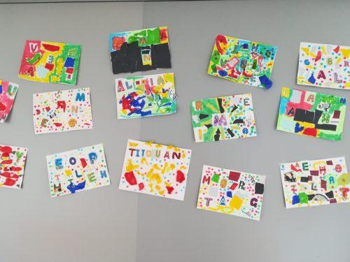 Lettres Du Prenom Et Art Visuel Pour Les Gs Mc En Maternelle