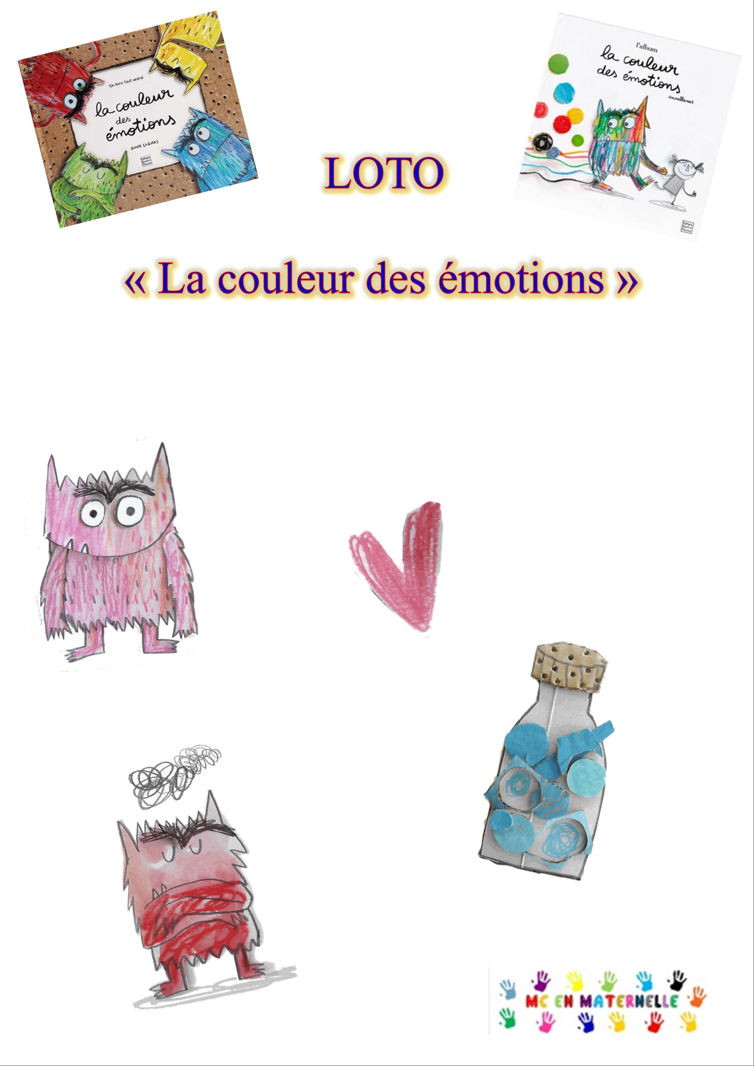 La Couleur Des Emotions Loto Mc En Maternelle