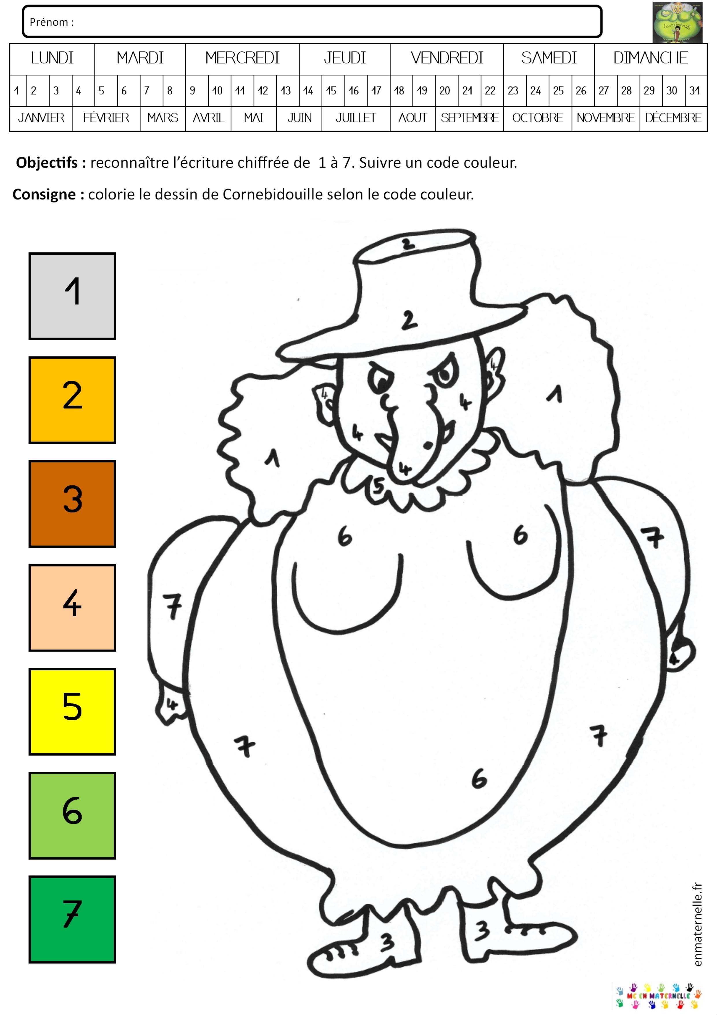 Cornebidouille Coloriage Magique De 1 A 7 Mc En Maternelle
