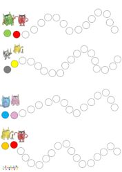 Le Monstre Des Couleurs Va A L Ecole Algorithmes Gommettes Ou Coloriage Mc En Maternelle