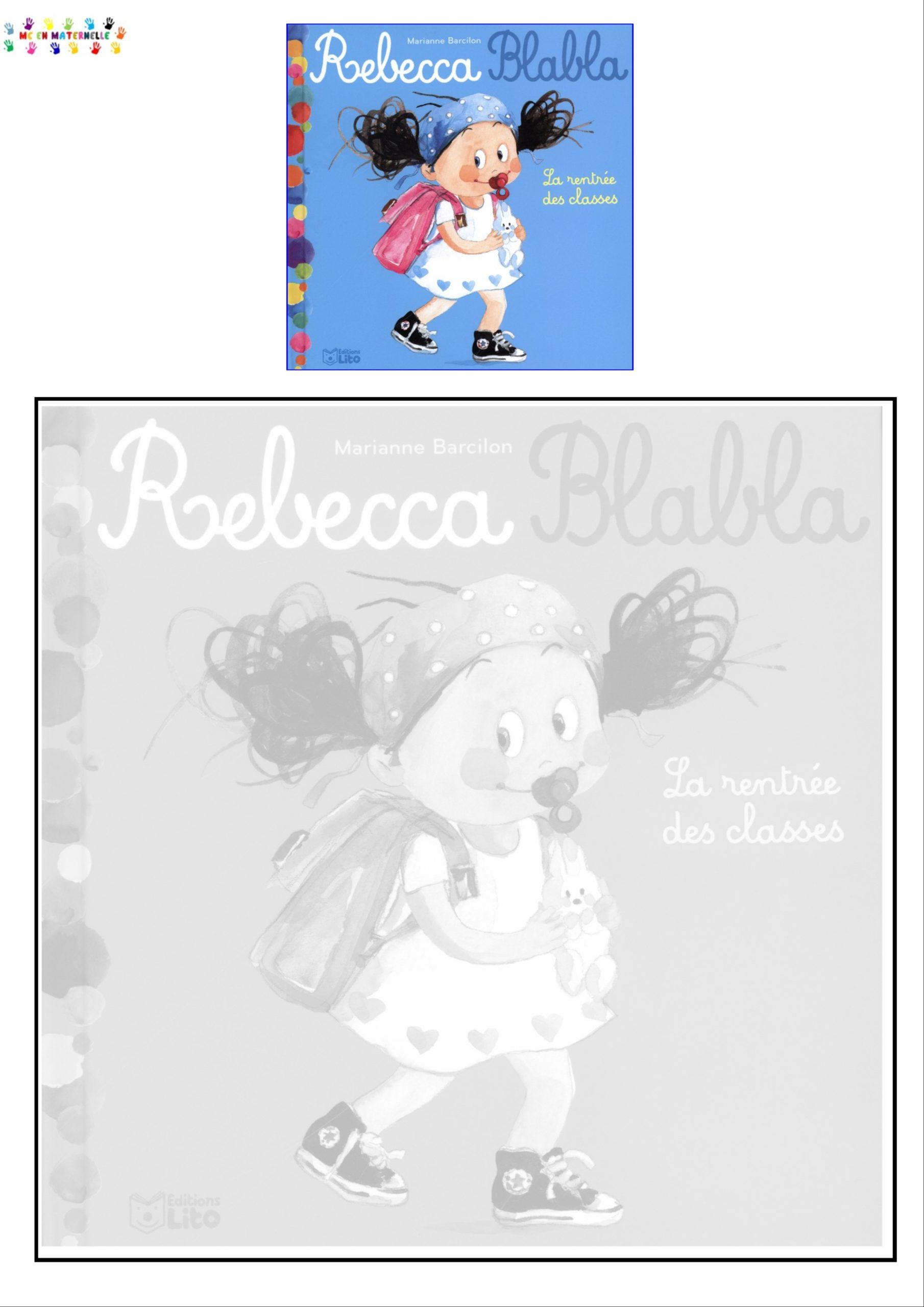 Rebecca Blabla Puzzle De La Couverture Mc En Maternelle